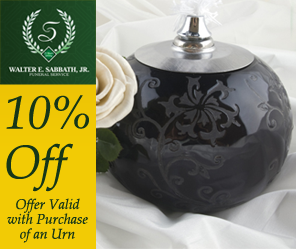 10% Off - Offer Valid with Purchase of an Urn